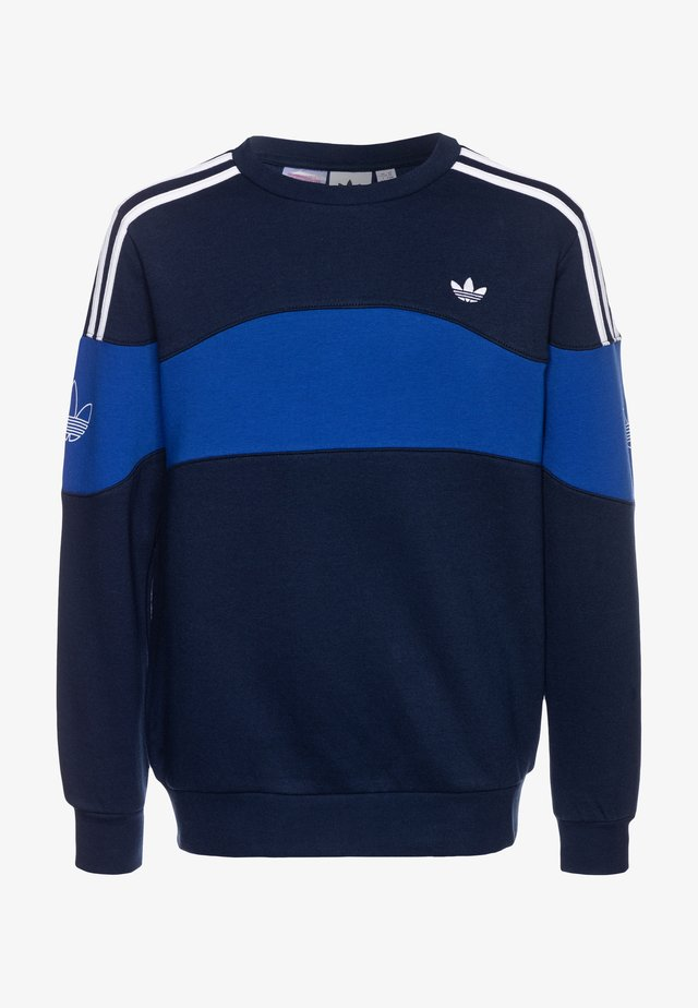 BANDRIX CREW - Sweater - night indigo/royal blue/white