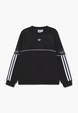 OUTLINE CREW - Bluza - black/white