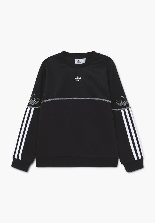 OUTLINE CREW - Sweatshirts - black/white