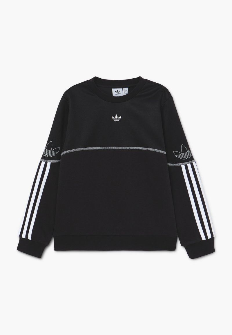 adidas Originals - OUTLINE CREW - Sudadera - black/white