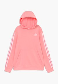 adidas Originals - LOCK UP HOODIE - Bluza z kapturem - pink/white - 0