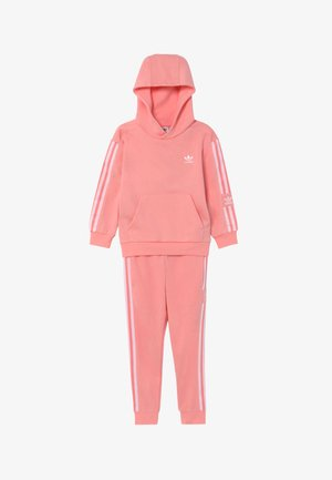 LOCK UP HOODIE SET - Survêtement - pink/white
