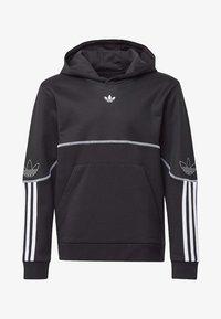 adidas Originals - OUTLINE HOODIE - Hoodie - black - 0