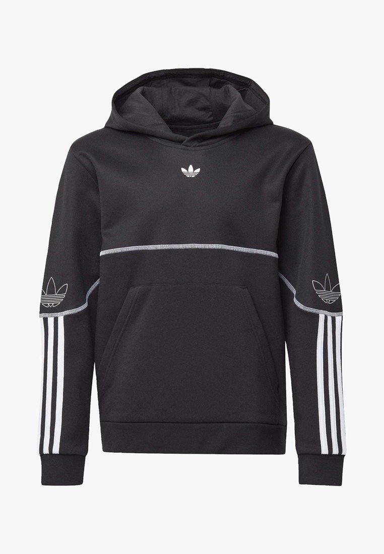 adidas Originals - OUTLINE HOODIE - Hoodie - black