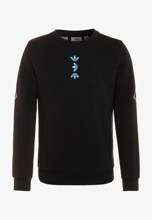 LOGO CREW - Sweatshirt - black/royal blue