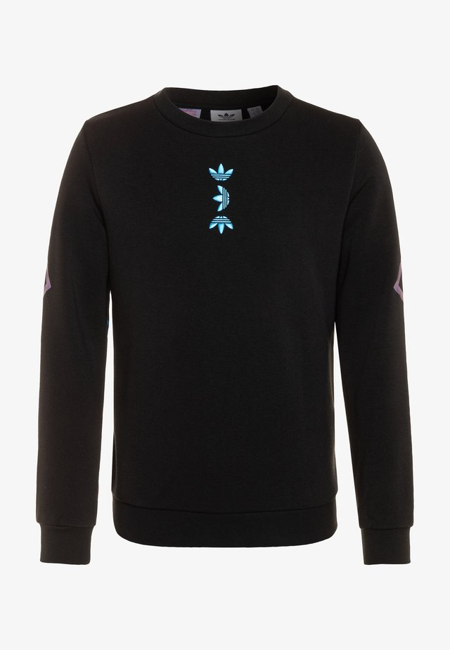 LOGO CREW - Sweater - black/royal blue