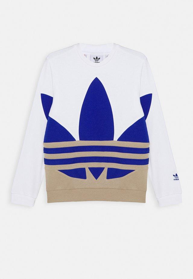 BIG CREW - Felpa - white/khaki/blue