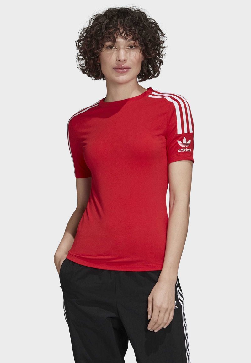 adidas Originals - TIGHT T-SHIRT - Printtipaita - red