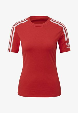 TIGHT T-SHIRT - T-shirt z nadrukiem - red