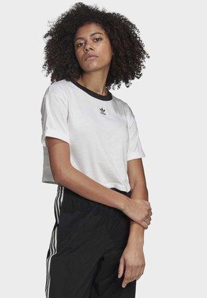 CROP TOP - Basic T-shirt - white