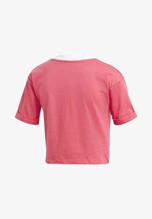CROP TOP - Basic T-shirt - pink