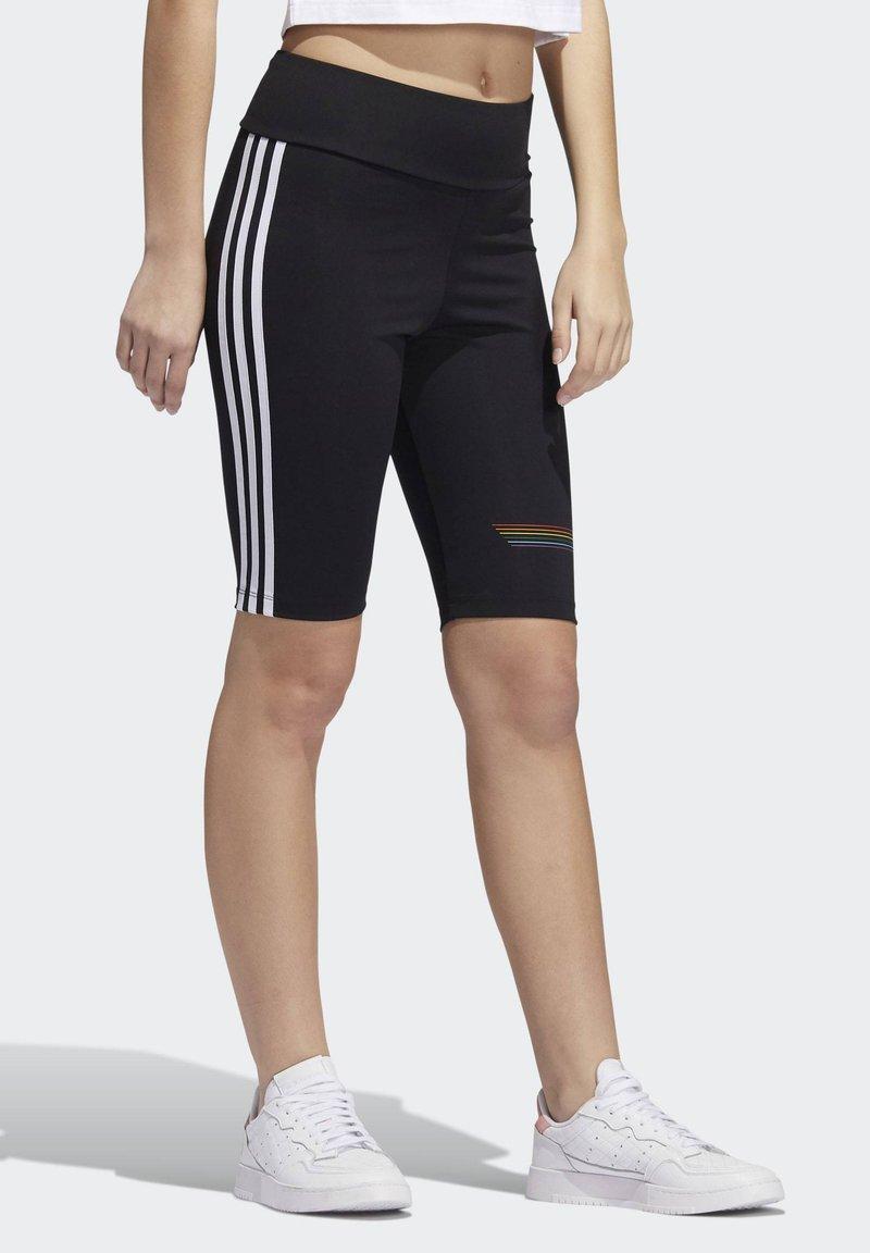 adidas Originals - PRIDE BIKE SHORTS - Legging - black