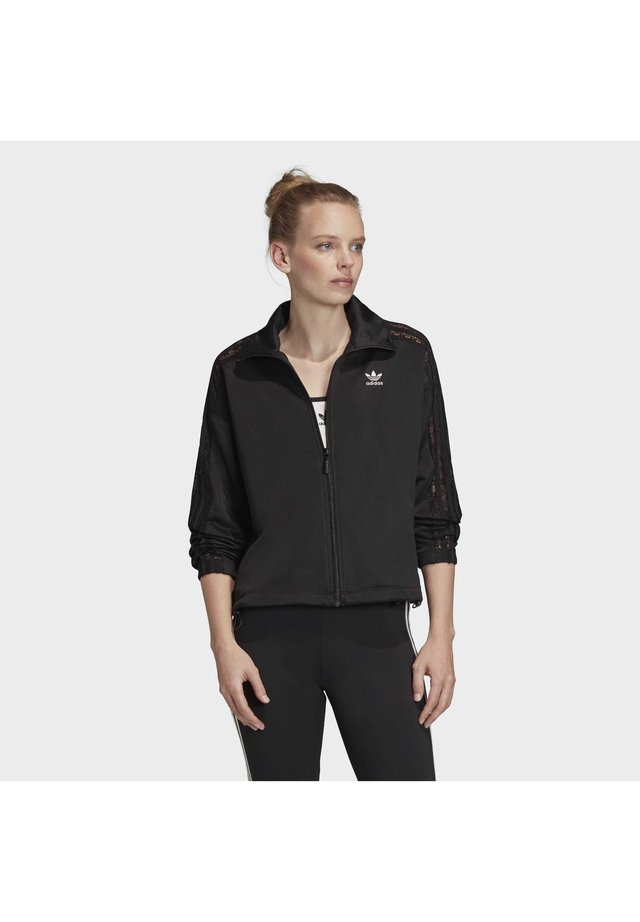 LACE TRACK TOP - Training jacket - black