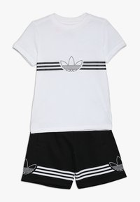 adidas Originals - OUTLINE TEE AND SHORTS SET - Sportovní kraťasy - white - 0