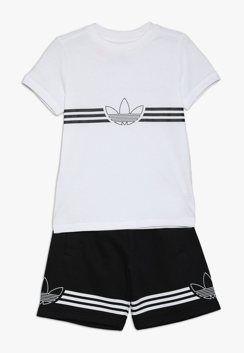 adidas Originals - OUTLINE TEE AND SHORTS SET - Sportovní kraťasy - white