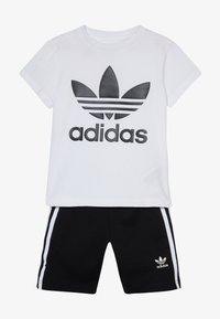 adidas Originals - TREFOIL SHORTS TEE SET - Short - black/white - 4