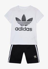 adidas Originals - TREFOIL SHORTS TEE SET - Kraťasy - black/white - 4