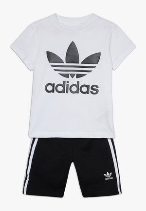 TREFOIL SHORTS TEE SET - Kraťasy - black/white