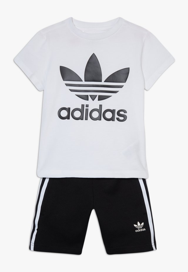 TREFOIL SHORTS TEE SET - Shorts - black/white