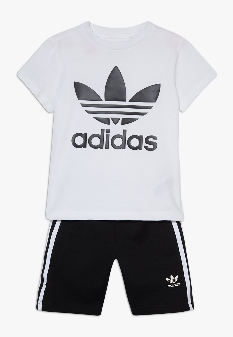adidas Originals - TREFOIL SHORTS TEE SET - Short - black/white