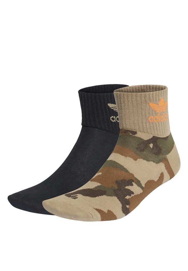 CAMO MID-ANKLE SOCKS 2 PAIRS - Skarpety sportowe - black