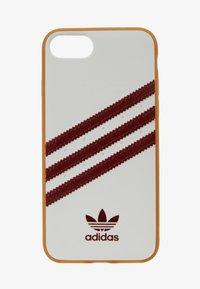 adidas Originals - MOULDED CASE FOR IPHONE - Etui na telefon - white/collegiate burgundy - 1