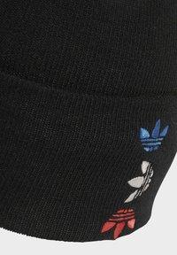 adidas Originals - ADICOLOR LARGE TREFOIL CUFF KNIT BEANIE - Lue - black - 2