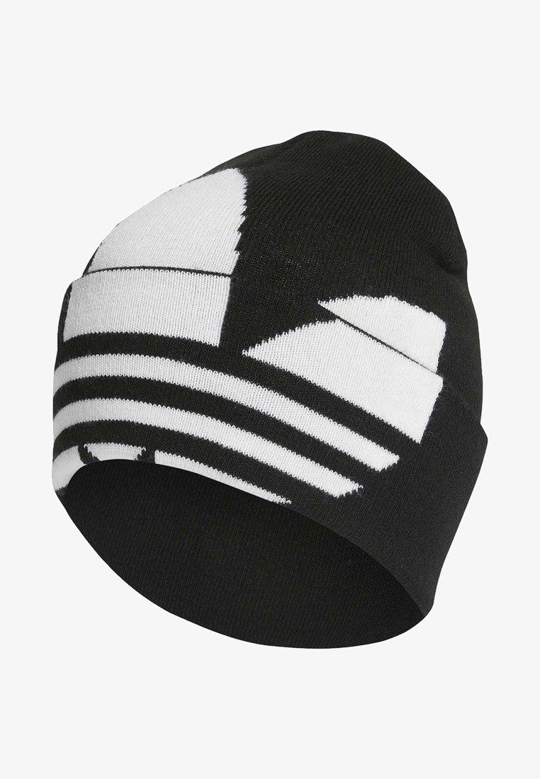 adidas Originals - ADICOLOR LARGE TREFOIL CUFF KNIT BEANIE - Lue - black