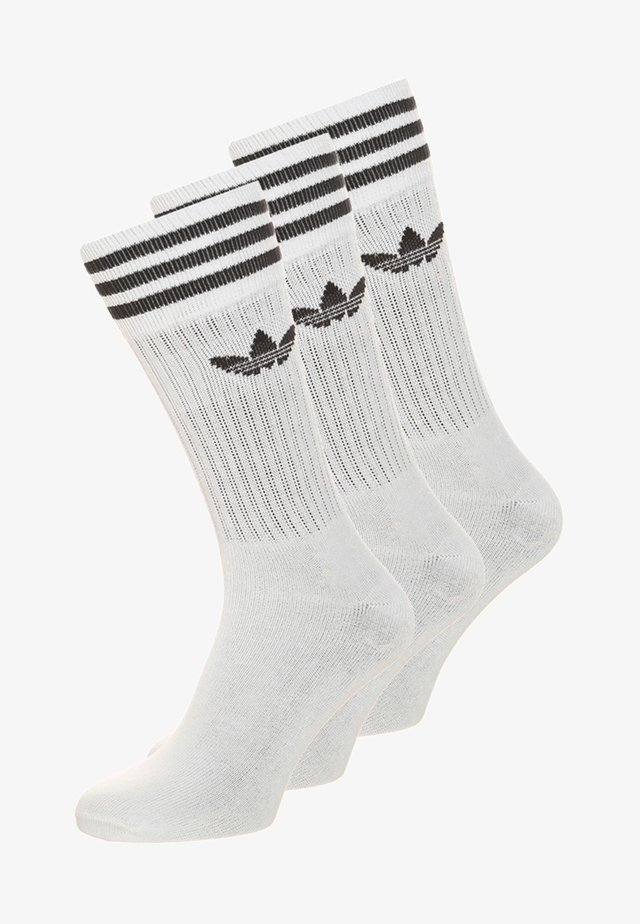 SOLID CREW 3 PACK - Socken - white/black