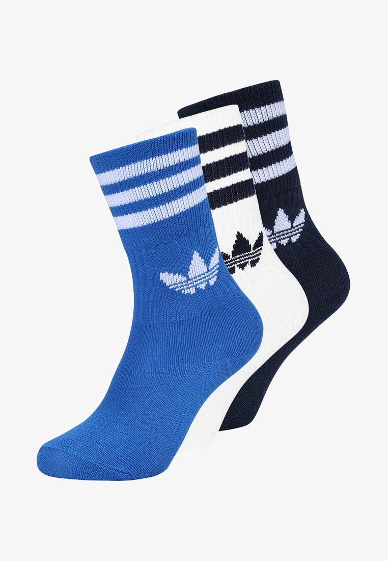 adidas Originals - SOLID CREW 3 PACK - Socks - conavy/blubird/white