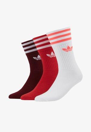 SOLID CREW 3 PACK - Socken - bordeaux/ red/ white