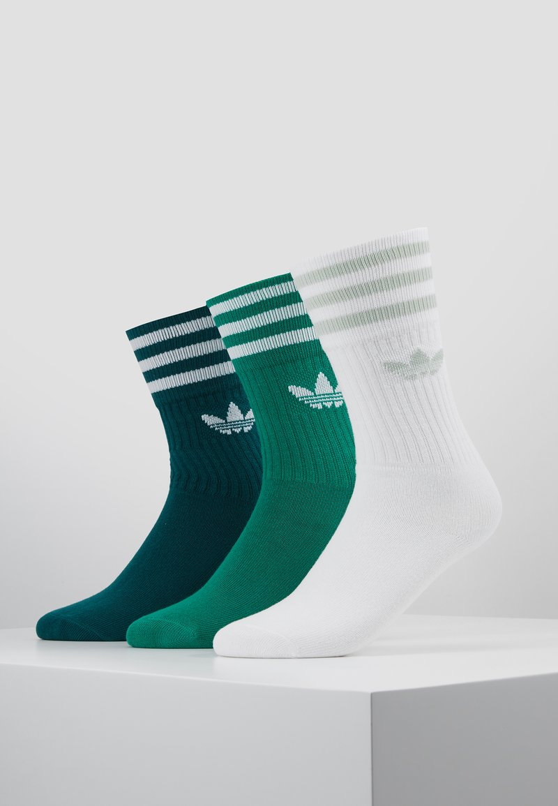 adidas Originals - SOLID CREW 3 PACK - Calcetines - green/white