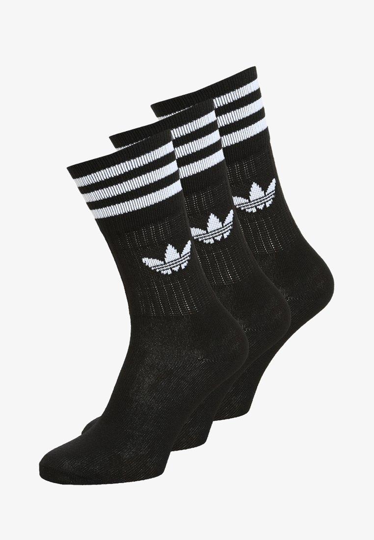 adidas Originals - SOLID CREW 3 PACK - Sukat - black/white
