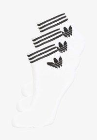 adidas Originals - TREFOIL ANK 3 PACK - Socks - white - 0