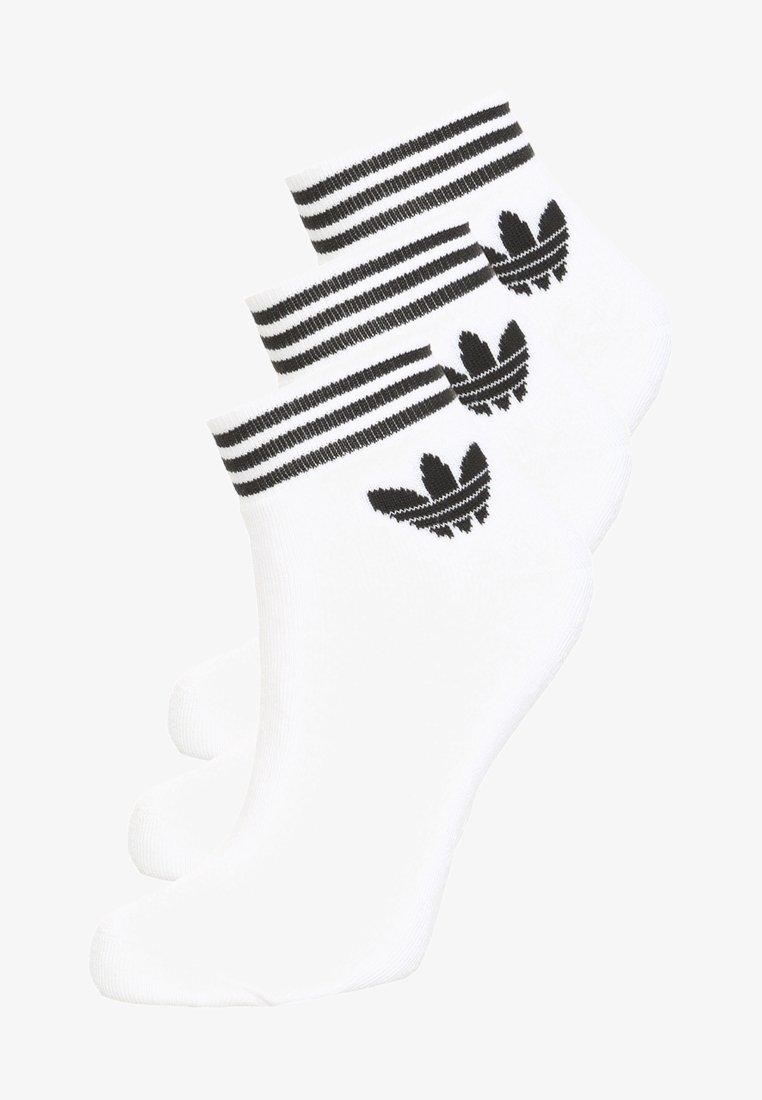 adidas Originals - TREFOIL ANK 3 PACK - Ponožky - white