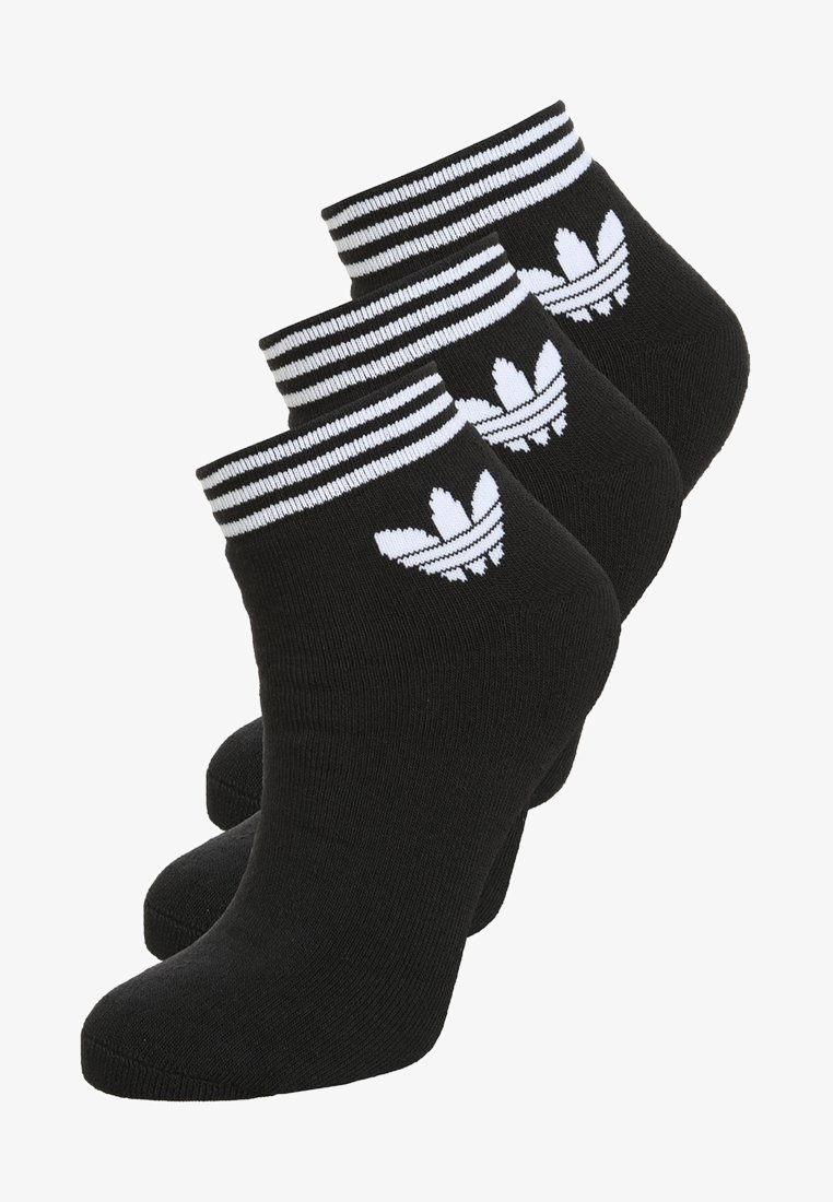adidas Originals - TREFOIL ANK 3 PACK - Sokken - black