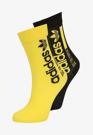2 PACK - Calcetines - black/showyellow
