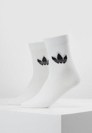 THIN TREF CREW 2 PACK - Sokker - white/black