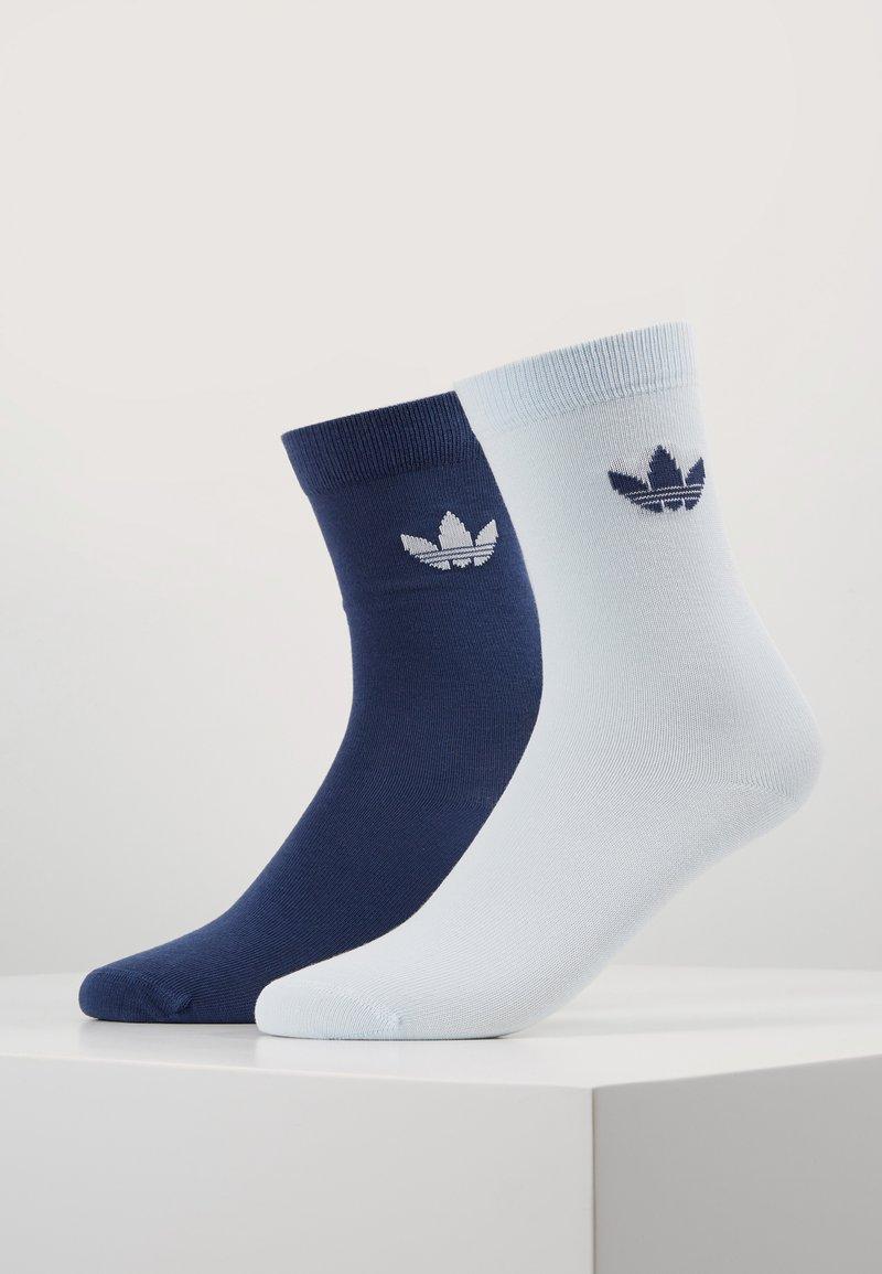 adidas Originals - THIN TREF CREW 2 PACK - Sokken - skytin/tecind
