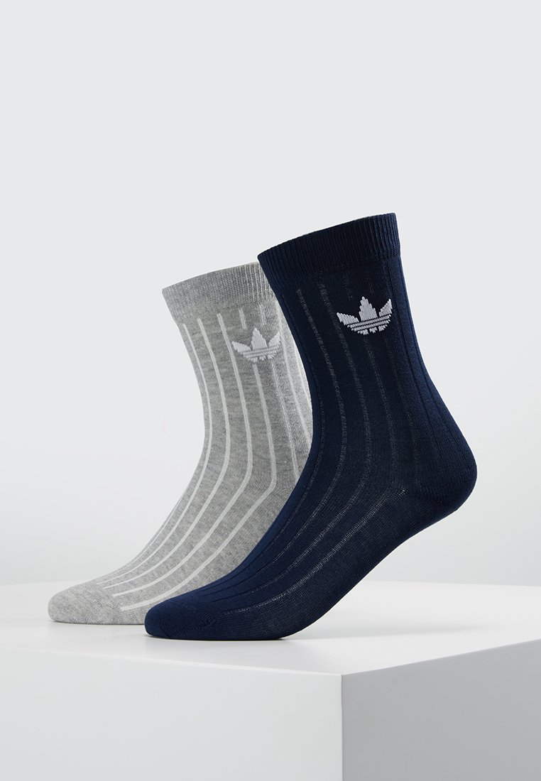 adidas Originals - MID 2 PACK - Strømper - collegiate navy/medium grey heather