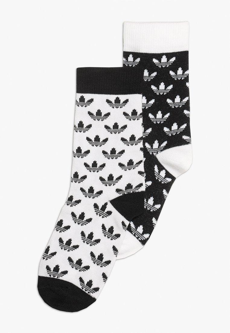 adidas Originals - THIN 2 PACK - Skarpety - black/white