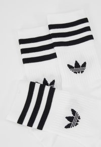 adidas Originals - MID CUT 3 PACK - Socks - white/black - 2