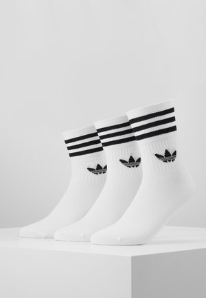 MID CUT 3 PACK - Sokker - white/black