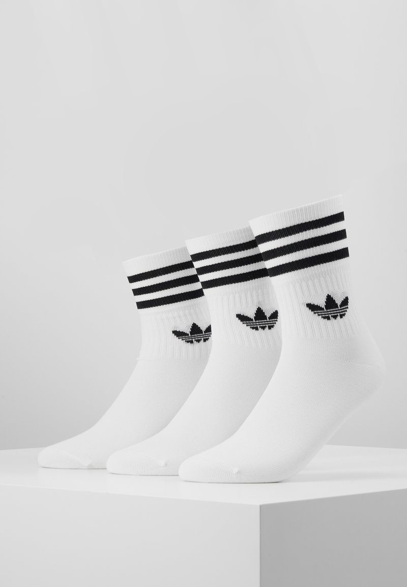adidas Originals - MID CUT 3 PACK - Calze - white/black