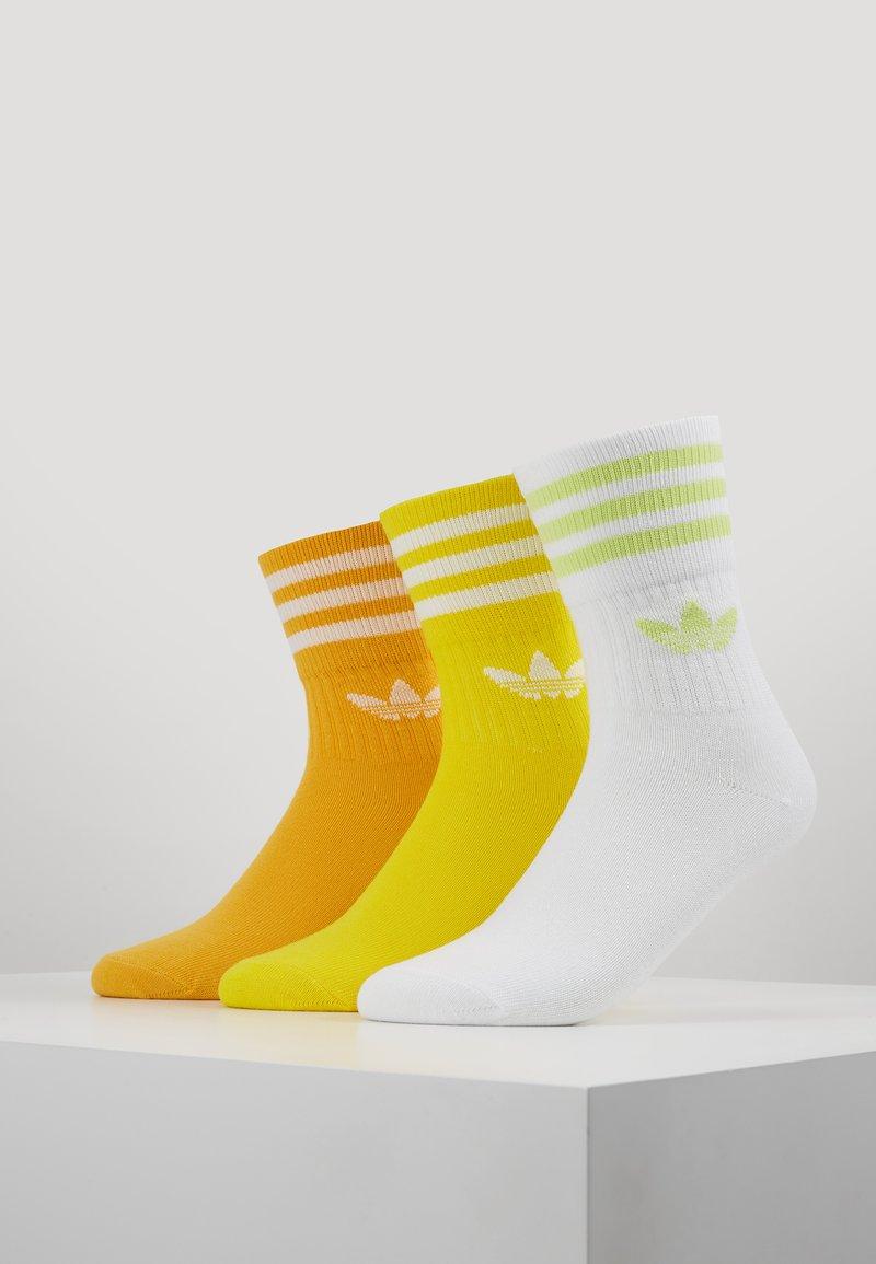 adidas Originals - MID CUT 3 PACK - Strumpor - actgold/yellow/white