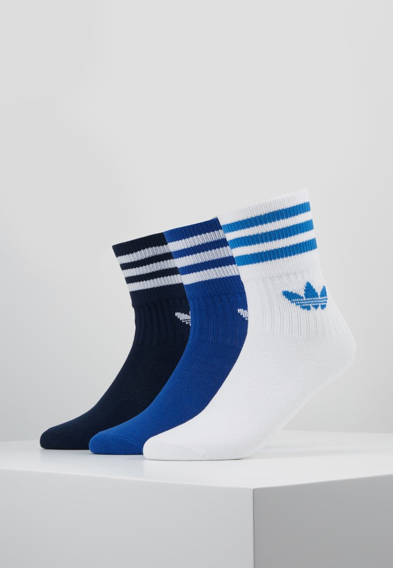 adidas Originals - MID CUT 3 PACK - Strumpor - conavy/croyal/white