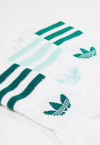 adidas Originals - MID CUT 3 PACK - Sokker - white/clear mint - 2
