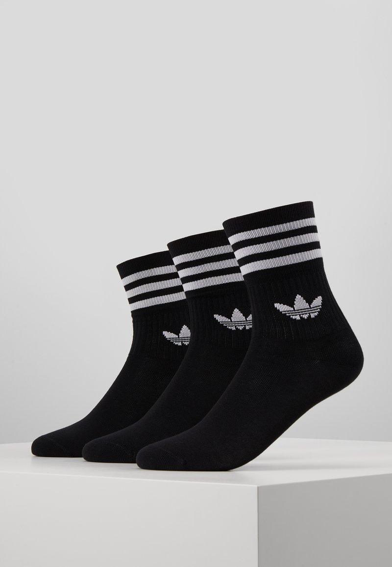 adidas Originals - MID CUT 3 PACK - Strumpor - black/white