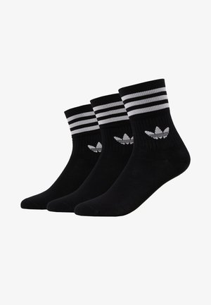 MID CUT 3 PACK - Chaussettes - black/white
