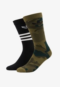 adidas Originals - CREW 2 PACK - Sokken - black/olive cargo - 1